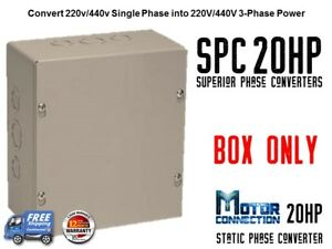 Static Phase Converter 20 Hp Create 3 Phase Power From Single Phase Supply