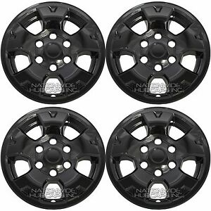4 Black 2005 2015 Toyota Tacoma 16 Wheel Skins Hub Caps Full Alloy Rim Covers