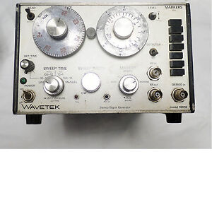 Wavetek 1801b Sweep signal Generator 1 950 Mhz For Parts Or Not Working 75 Ohm