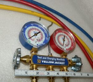 Test Charging Manifold Gauge Ritchie Yellow Jacket 42004 Hvac Refirgerant 2017