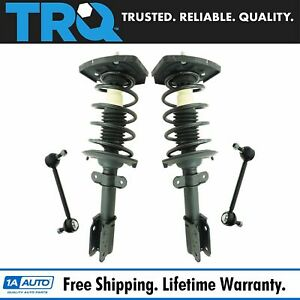 4 Piece Suspension Kit Complete Strut Assemblies W Sway Bar End Links New