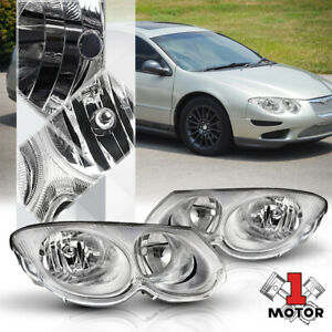 Chrome Housing Clear Lens Replacement Headlight Lamp For 99 04 Chrysler 300m