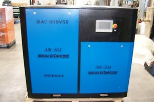 Air-Max  50 hp. Variable Speed Drive (NEW ) Industrial  Rotary Screw Compressor