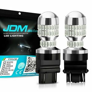 Jdm Astar 2x 50w 3157 3156 Red Led Turn Signal Brake Tail High stop Lights Bulbs
