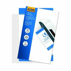 Fellowes Laminating Pouches Thermal Legal 7 Mil 100 Pack 52046 No Tax