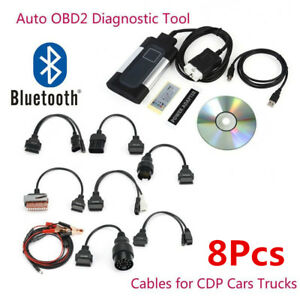2017 Latest Bluetooth Tcs Cdp Pro Plus For Autocom Obd2 Diagnostic Tool 8 Cables