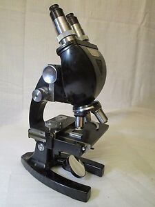 Excellent Vintage Bausch Lomb Optical Microscope Tb3456 With 43x 10x Zoom
