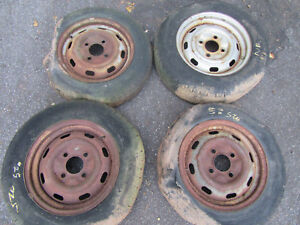 Porsche 914 Vw Match Wheel Set Good For Restoration 311601025j