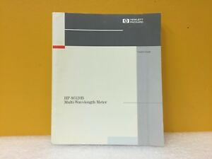 Hp Agilent 86120b Multi wavelength Meter User s Guide