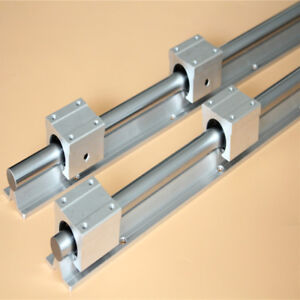 2set Sbr20 500mm Rail Shaft 4pcs Sbr20uu Bearing Block Linear Slide Cnc