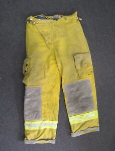 Cairns Turnout Gear Fire Fighter Bunker Padded Pants Yellow Explorer 30 X 28