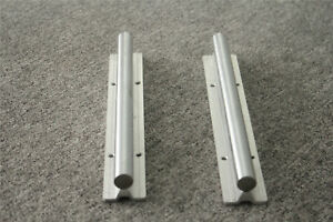 Sbr20 500mm 2pcs Fully Supported For Cnc Guide Linear Rail Shaft Rod