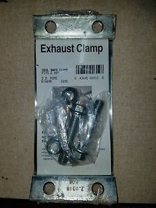 Exhaust Band Clamp 2 Butt Joint Flat Band Steel Lot Of 4 Clamps