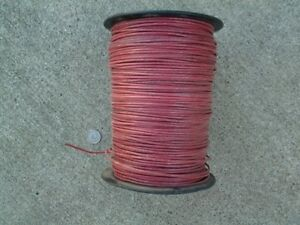 14 awg Red Stranded Wire 600v Thhn Mtw Thwn Gas And Oil Resistant Wire On spool