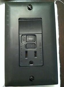 10 Pass Seymour P s Gfci 15 Amp Switch Led Black Single Pole 1595 swtbkcc4