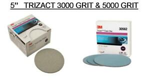 3m 2096 30562 Trizact Foam Discs 5 Inch 3000 5000 Grit 3 Sheets Of Each