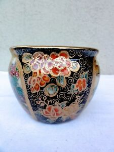 Old Japan Hand Painted Satsuma Porcelain Vase Jar Nice Display Piece