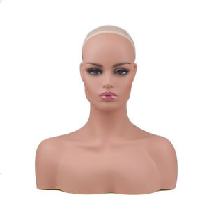 New Realistic Women Mannequin Head Display Wig Hat Glasses Necklace Model Dc 487