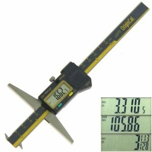 Double Hook Depth Caliper 6 Absolute Origin Electronic Digital Groove Gauge