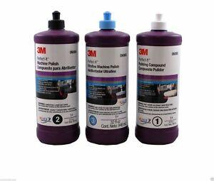 3m Perfect It Buffing Polishing Compound Package 06085 06064 06068