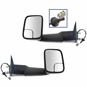 Power For 1994 97 Dodge Ram 1500 2500 3500 Side View Mirrors W brackets Pair