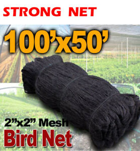 50ftx100ft Bird Netting Net Netting For Bird Poultry Avaiary Game Pens 2 Hole