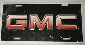 Gmc Truck Skid Plate Embosed License Plate Sign Tag
