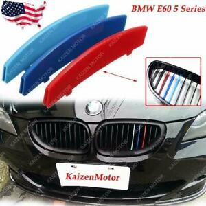 m sport Tri color Grille Insert Trim For Bmw E60 5 Series Center Kidney Grill