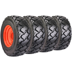 Set Of Carlisle 12x16 5 Ultra Guard Mx Skid Steer Tires And Wheels Bobcat