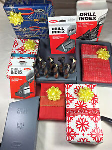 8 Pc Black Gold Silver Deming Drill Bit Set Of 9 16 To 1 S d Huot 1 2 Shank