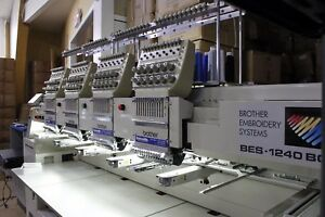 Brother Bes 1240bc 4 head 12 needle Industrial Embroidery Machine