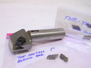 Used Top Notch Boring Bar shank 1 With 5pcs Carbide Inserts