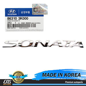 Genuine Emblem Trunk Rear For 2006 2010 Hyundai Sonata Oem 863103k000