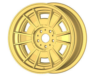 Fiat Dino 2000 2400 Gold Cromodora Style 14 Bolt On Wheel Set 4 Pcs New