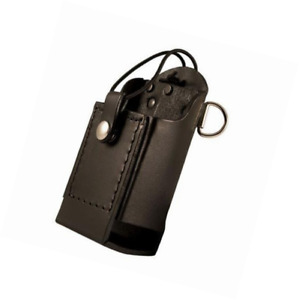 Boston Leather Firefighter s Radio Holder With D rings Elastic Strap