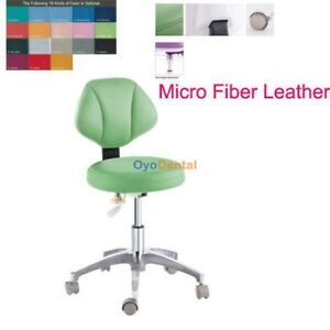 Dental Medical Office Stools Mobile Assistant Stool Adjustable Chair Pu Leather