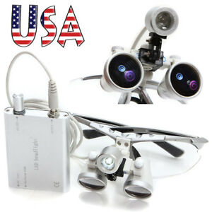 Dentist Dental Surgical Medical Binocular Loupes Light 3 5x 320mm Optical Glass