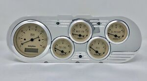 1963 1964 1965 Chevy Nova 5 Gauge Dash Cluster Tan