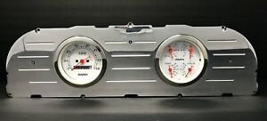 1960 1961 1962 1963 Chevy Truck 3 3 8 Quad Gauge Cluster White