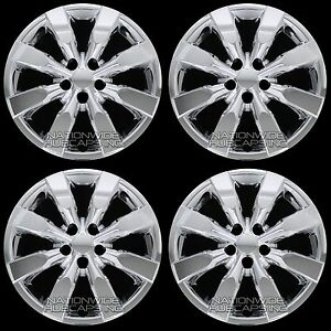 4 New Chrome 2009 2016 Corolla 16 Hub Caps Full Wheel Covers Fit Steel Rims