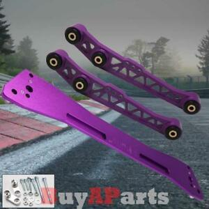 Purple Rear Lower Control Arm Subframe Brace Kit For 1994 2001 Acura Integra Dc2