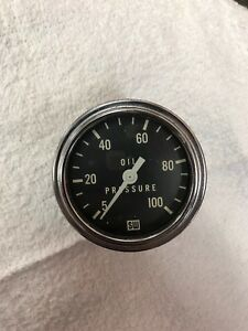 Stewart Warner 2 5 8 Oil Pressure Gauge Original