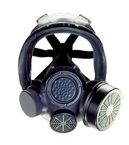 Msa 813859 Advantage 1000 Riot Control Gas Mask Medium Black