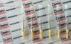 Protaper Gold Rotary Files 21 Mm F1 Dentsply Endodontics Endo