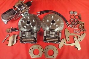 1964 1965 1966 Mustang Six Cylinder 5 Lug Power Disc Brake Conversion Chrome