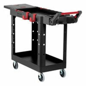 Need Commercial strength Rubbermaid Rcp 1997206 Black Heavy Duty Work Cart
