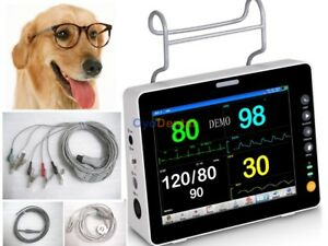 Temp Veterinary Patient Monitor Jr2000b vet 8 tft Lcd Icu Ecg Nibp Spo2 Resp