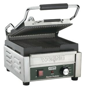 Waring Commercial Wpg150 Compact Italian style Panini Grill 120 volt New