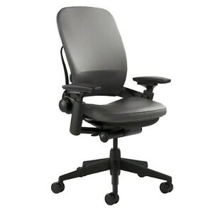 Steelcase Leap Chair Black Leather New