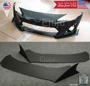 Front Bumper Lip Side Splitters Spoiler Winglet Shark Fin Blade For 13 16 Frs
